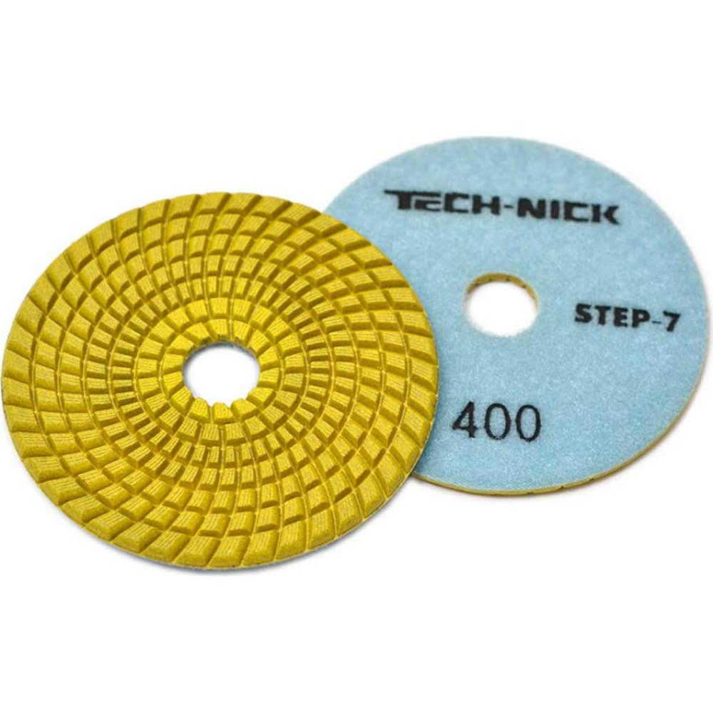 Купить Круг алмазный гибкий шлифовальный агшк step 7 (100x3.5 мм; р400) tech-nick 111120009