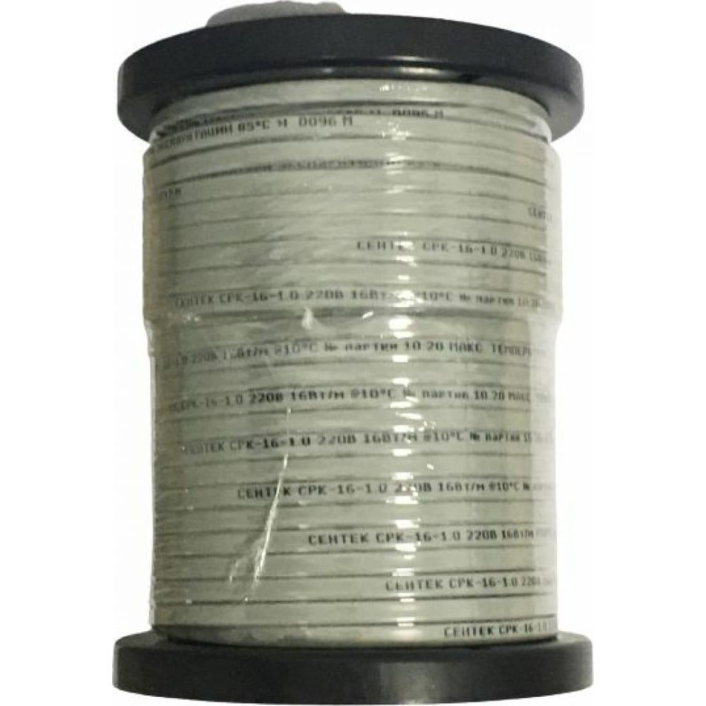Купить Нагревательный саморегулирующийся кабель sentek срк-16-1 16вт/м, сечение 1 мм кв, катушка 100м 04-00001890