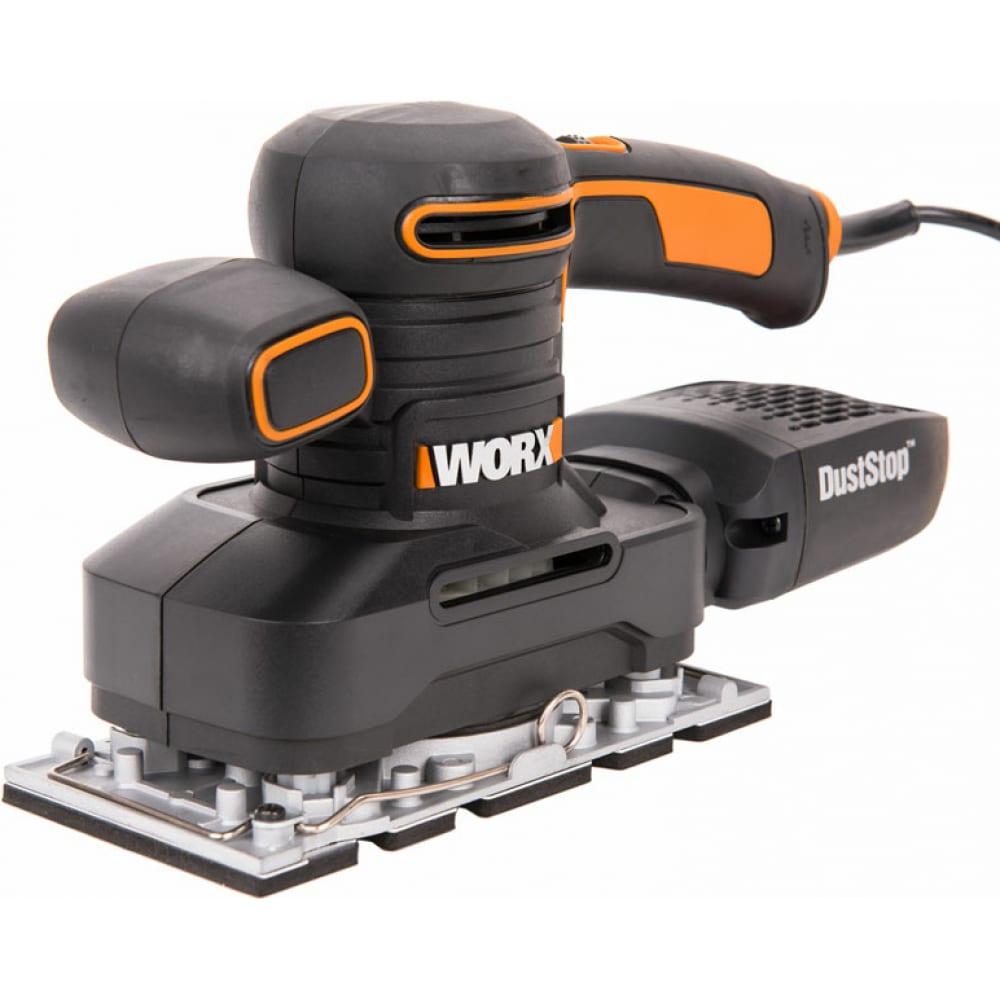 Купить Электрическая виброшлифмашина worx 250вт wx641
