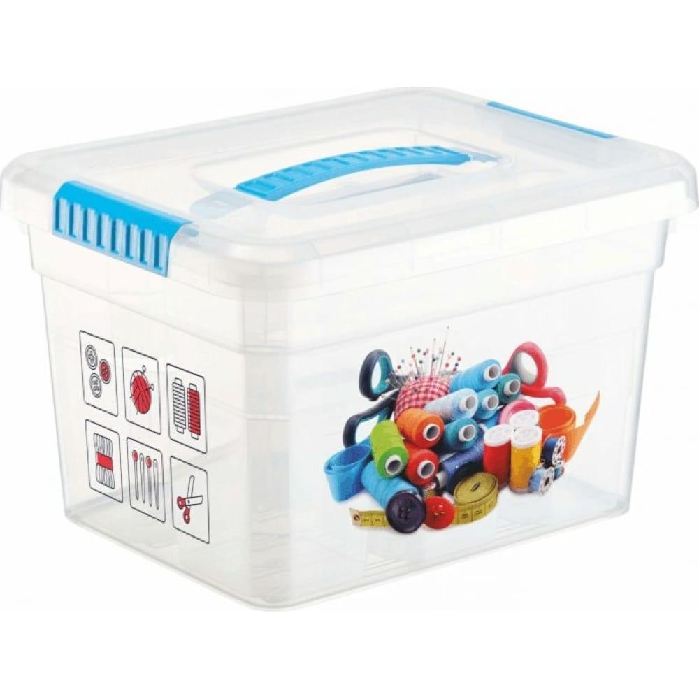 Ящик органайзер funbox хобби 5л с ручкой 6 вставок органайзер s + лоток s 47012