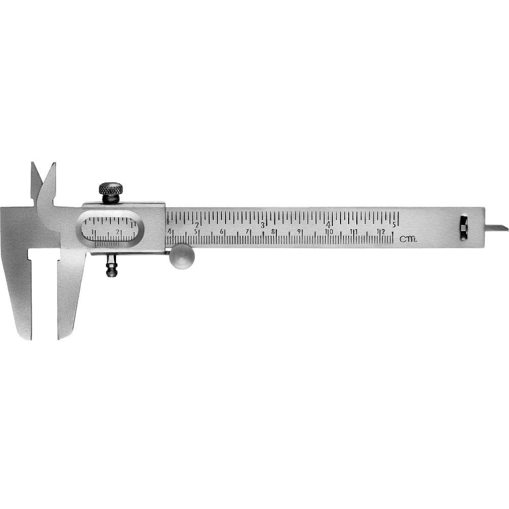Стальной штангенциркуль сибин 125 мм, 3443