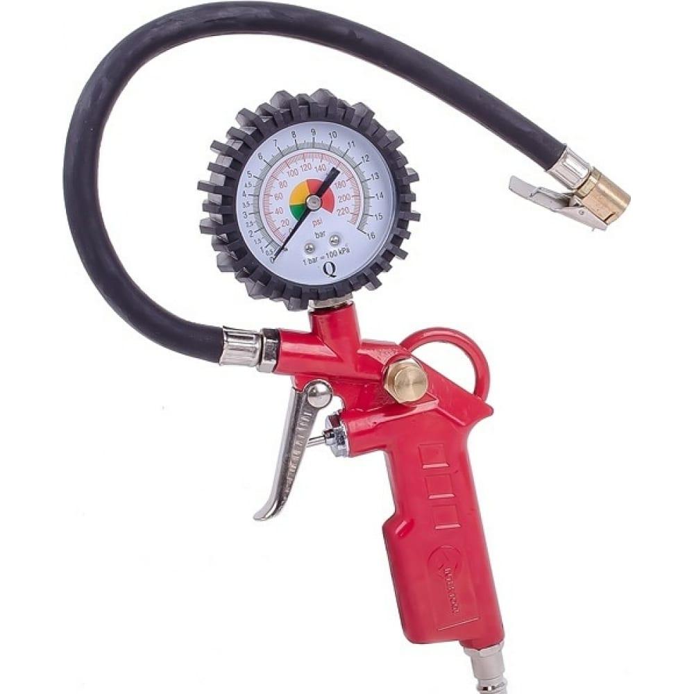 Купить Пневматический пистолет для подкачки колес с манометром 63мм intertool pt-0503