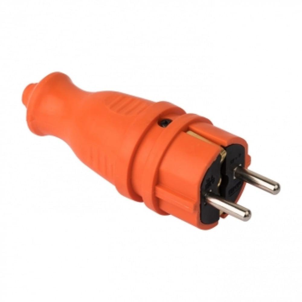 Прямая каучуковая вилка ekf, оранжевая 230в 2p+pe 16a ip44 pro rps-011-16-230-44-ro