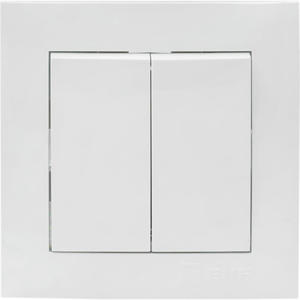 2-клавишный выключатель ekf валенсия, 10а белый proxima ewv10-023-10