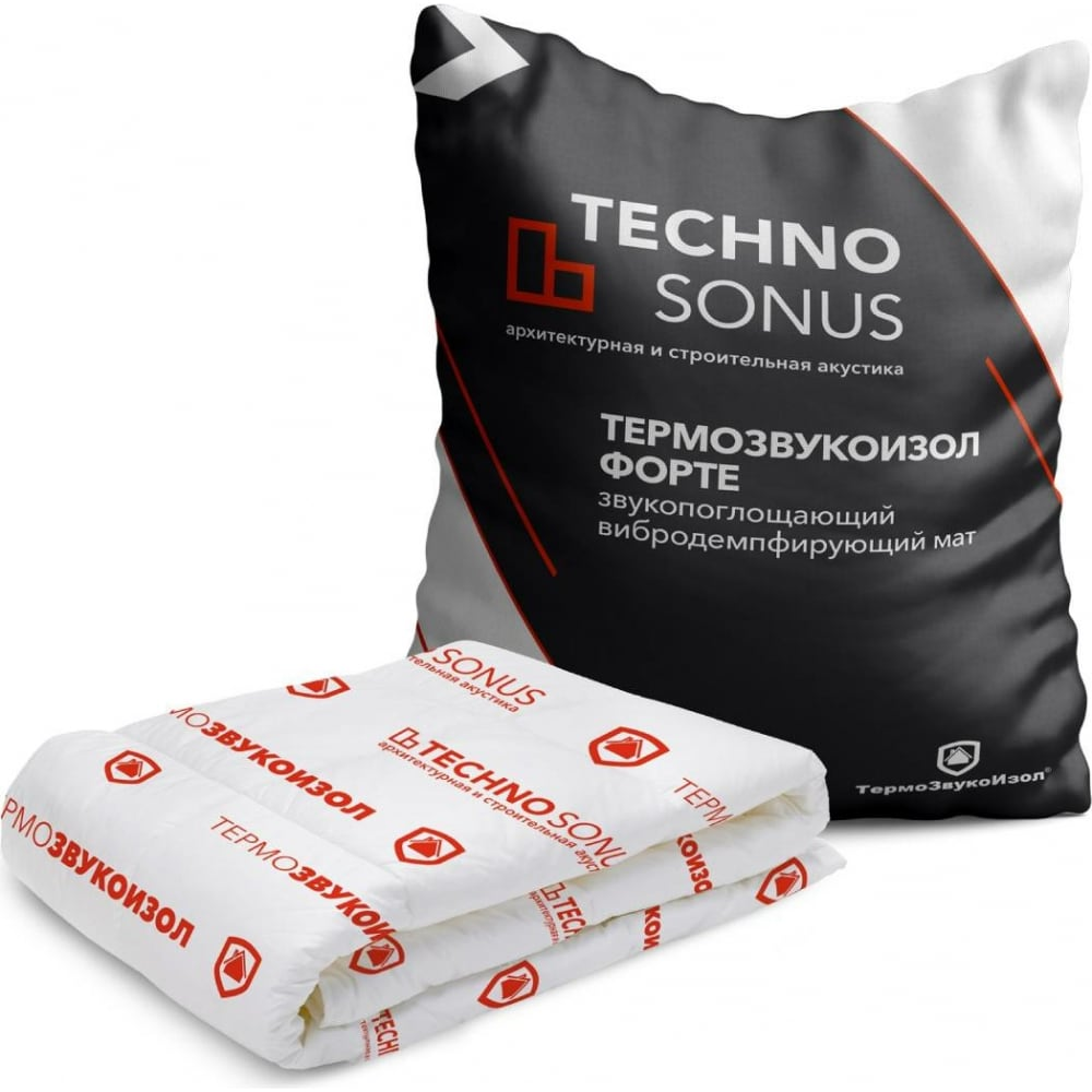 Купить Мат для звукоизоляции термозвукоизол форте (5х1.5 м; 12 мм; 7.5 кв.м) техносонус 1300100001