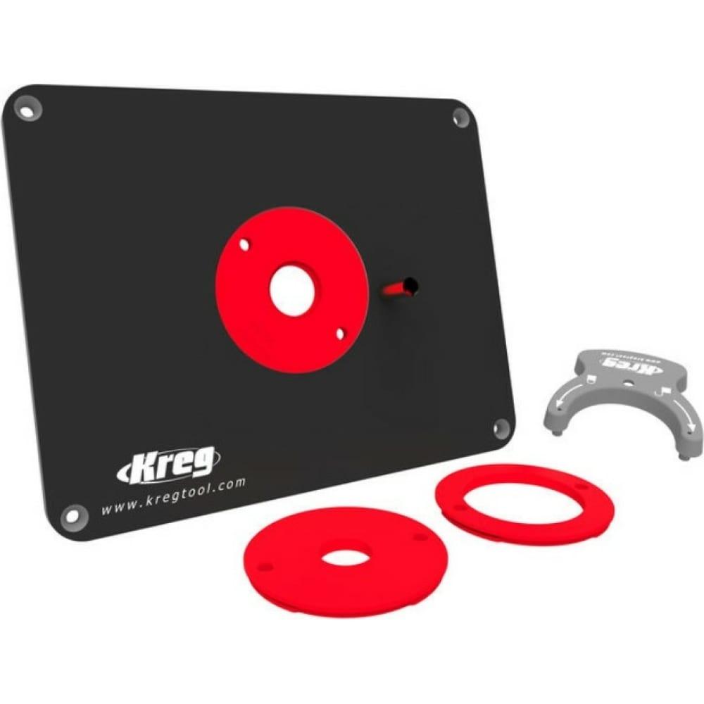 Пластина для крепления фрезера с 3-мя кольцами для triton, cmt kreg prs4034