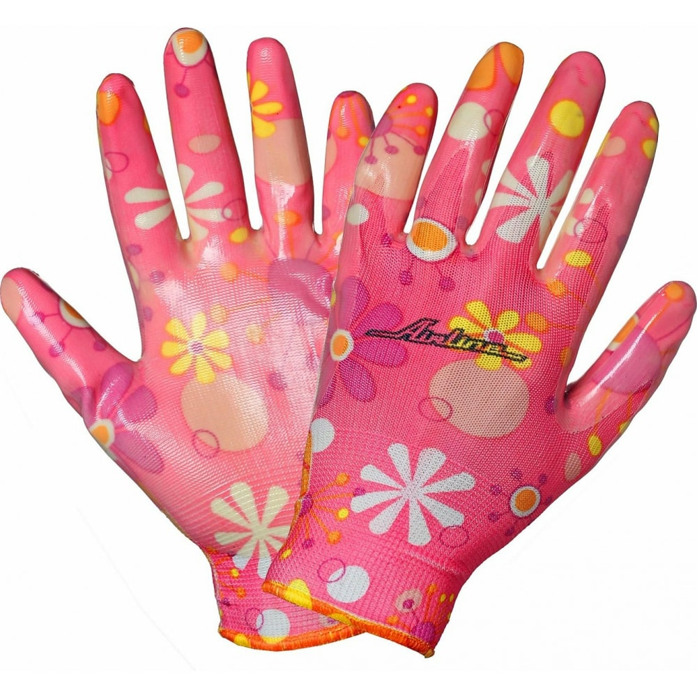 Купить Нейлоновые женские перчатки с цельным полиуретановым покрытием ладони airline awg-nw-09