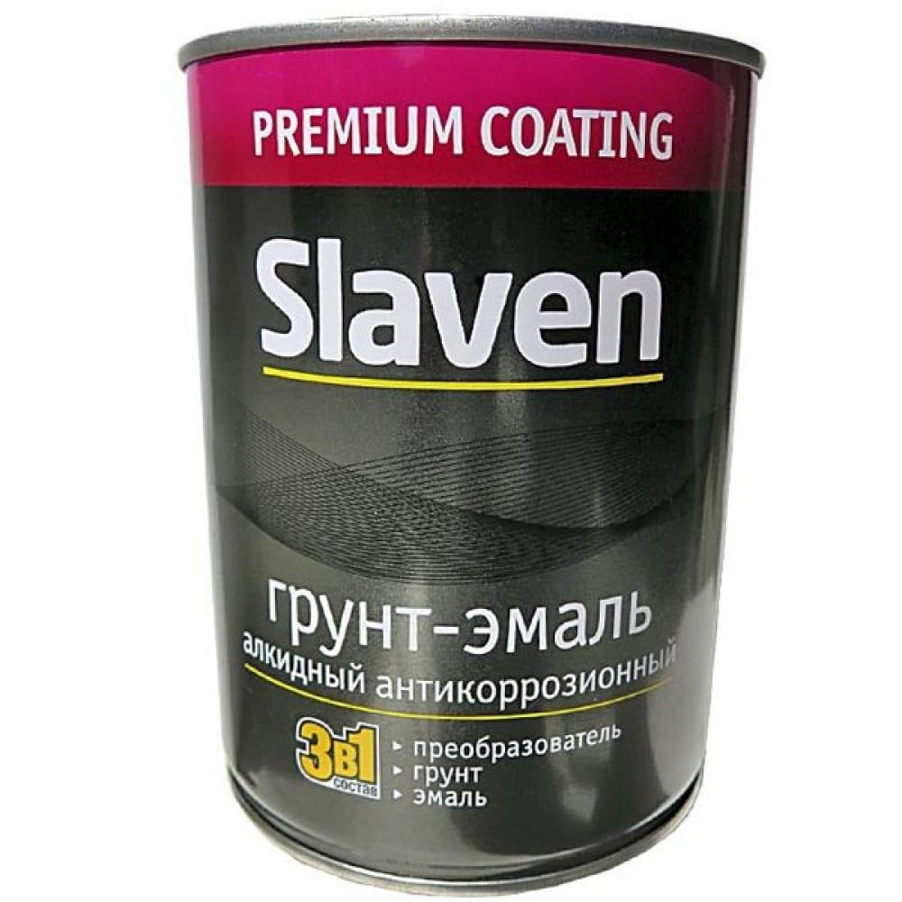 Купить Грунт-эмаль slaven 3в1 быстросохнущий антикоррозионный зеленый лист 1, 1 кг 92498