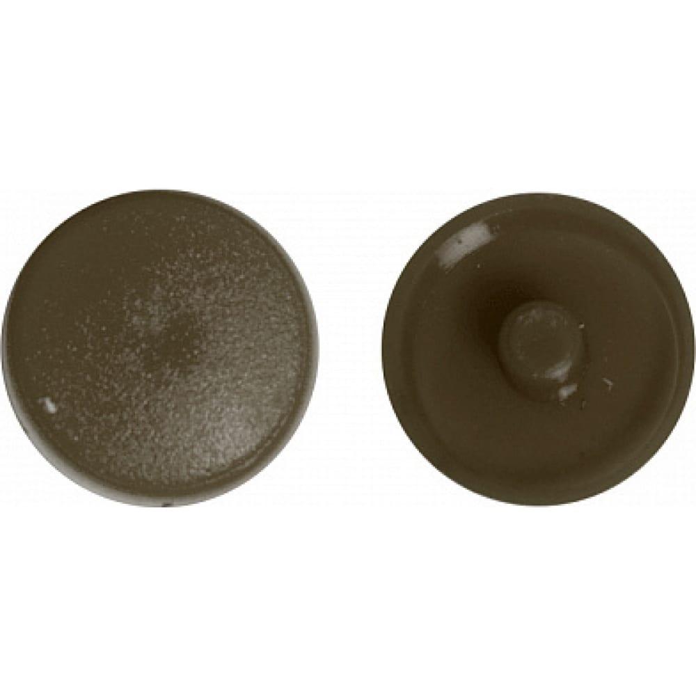 Заглушка под рамник креп-комп темно-коричневая 1000шт зпр тем.коричн