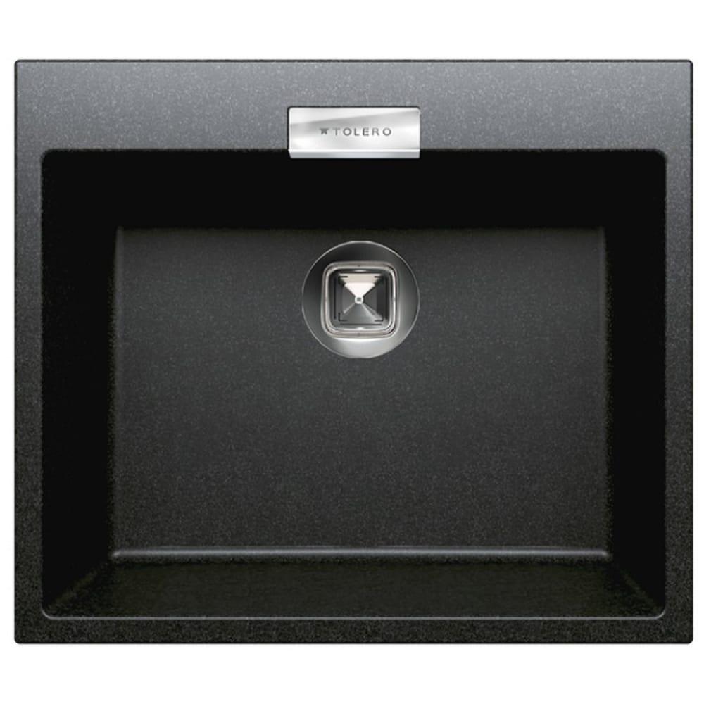 Кухонная мойка tolero кварцевая, цвет черный tl-580 №911