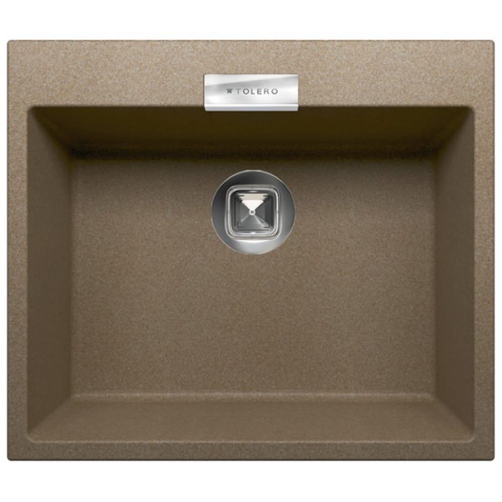 Купить Кухонная мойка tolero кварцевая, цвет темный бежевый tl-580 №823