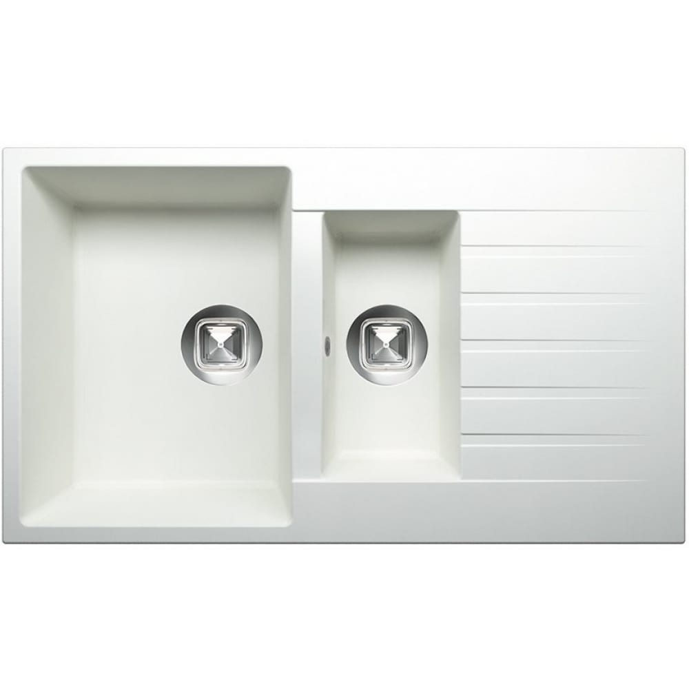 Кухонная мойка tolero кварцевая, цвет белый r-118 №923