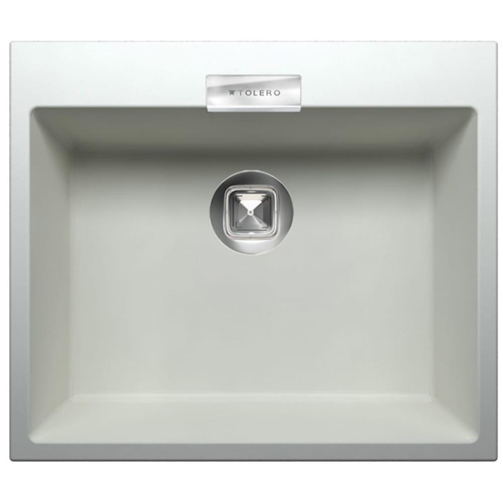 Кухонная мойка tolero кварцевая, цвет белый tl-580 №923