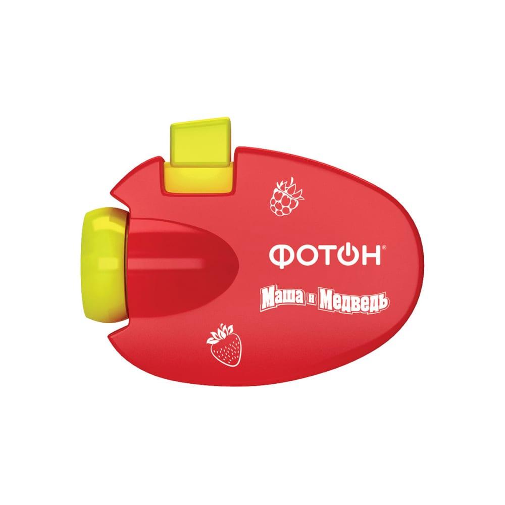 Мультфонарик-проектор фотон кр-0903-2, маша и медведь, красный 23316