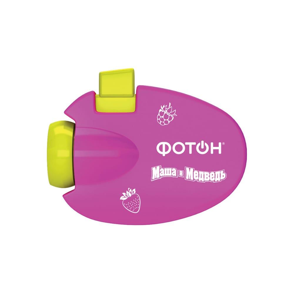 Мультфонарик-проектор фотон кр-0903-2, маша и медведь, розовый 23320
