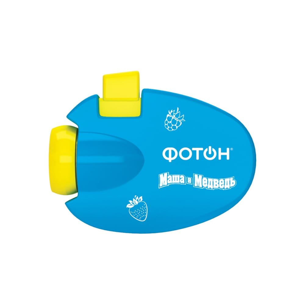 Мультфонарик-проектор фотон кр-0903-2, маша и медведь, голубой 23318