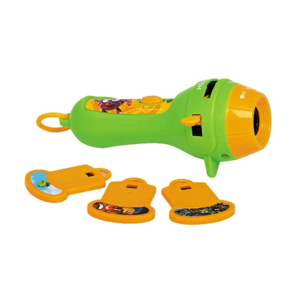 Мультфонарик с кассетами фотон кр-0908-2, смешарики, легенда о золотом драконе, ежик 22811