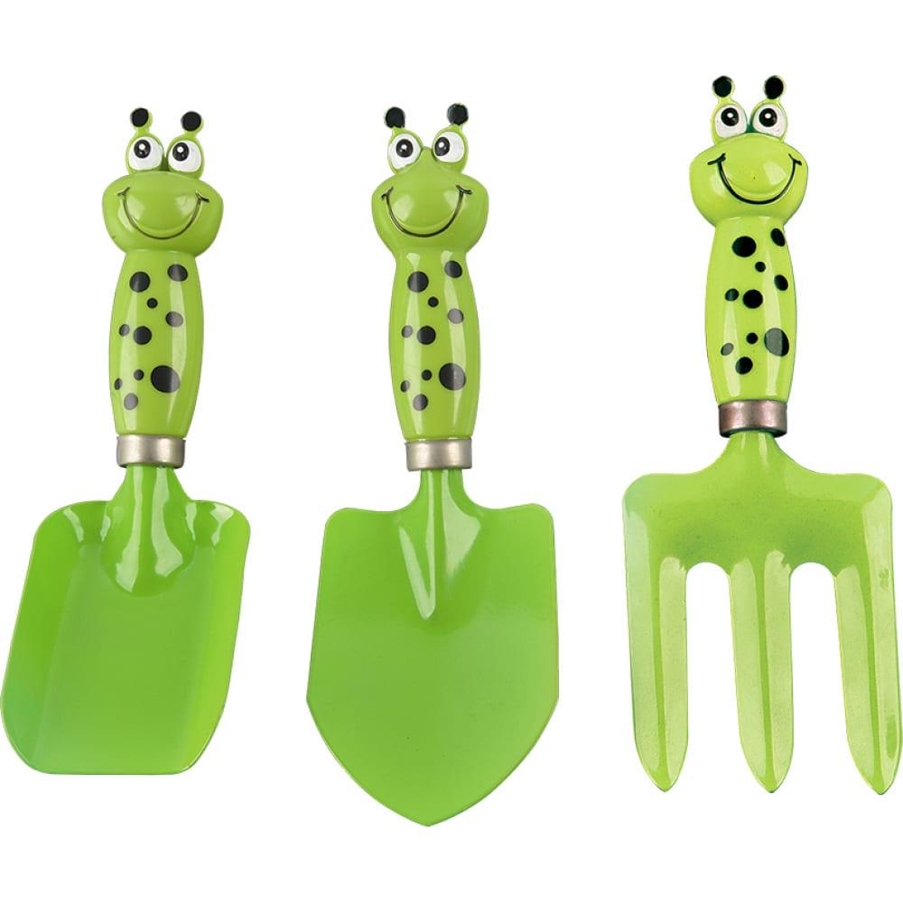 Набор садового инструмента чудесный сад gt-001 юный садовник зеленый, 3 предмета 4606400033097