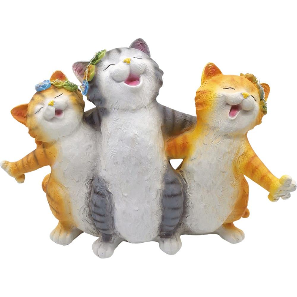 Садовая фигурка чудесный сад 208 веселые коты с led подсветкой, на солнечной батарее 4606400630111