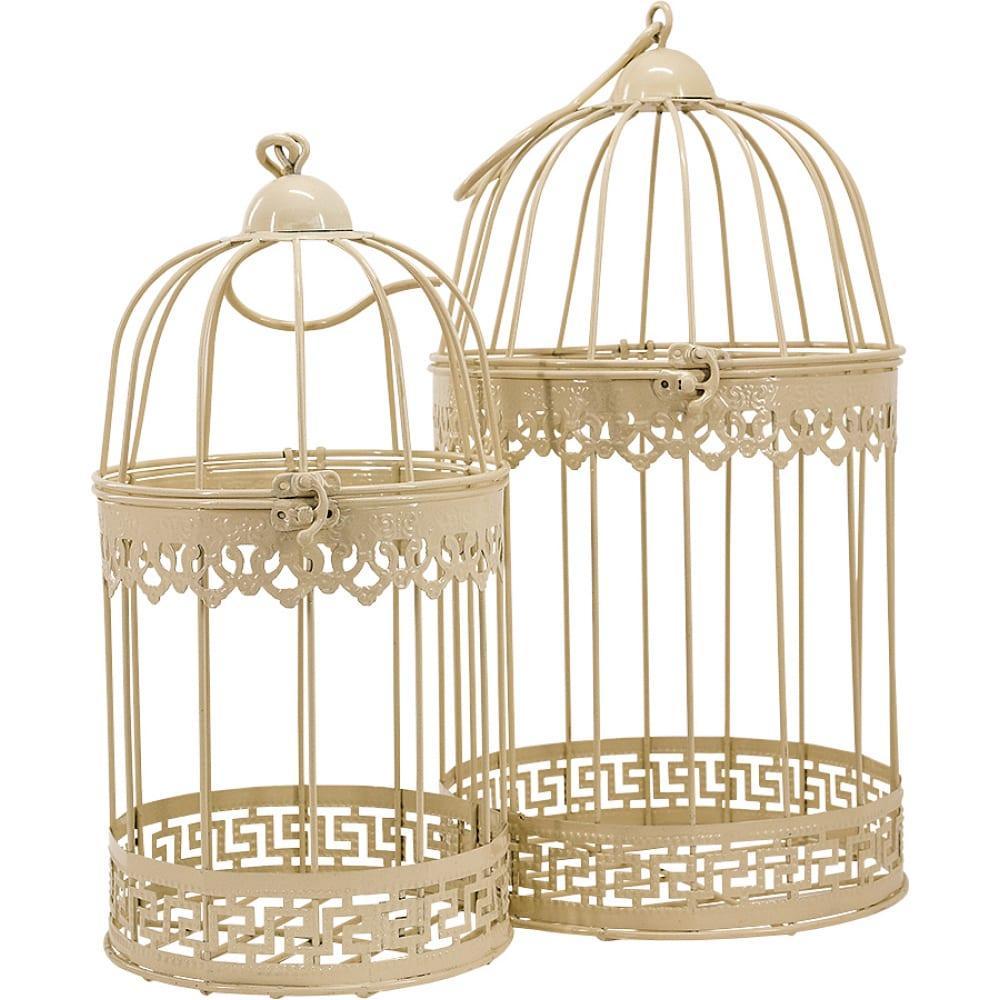 Набор настольных/подвесных декоративных клеток чудесный сад 239 кремовый, 15х25 см и 19х31 см 4606400055853