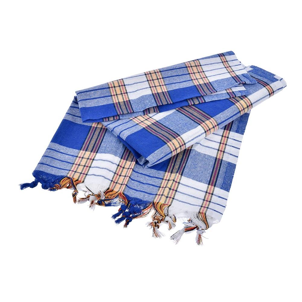 Традиционное турецкое полотенце для бани банные штучки пештемаль, 80х180 см, синее 40216