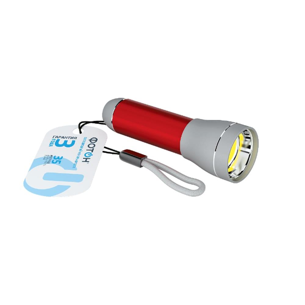 Светодиодный фонарь-брелок фотон к-200, 1хlr6 в комплекте, красный 23829