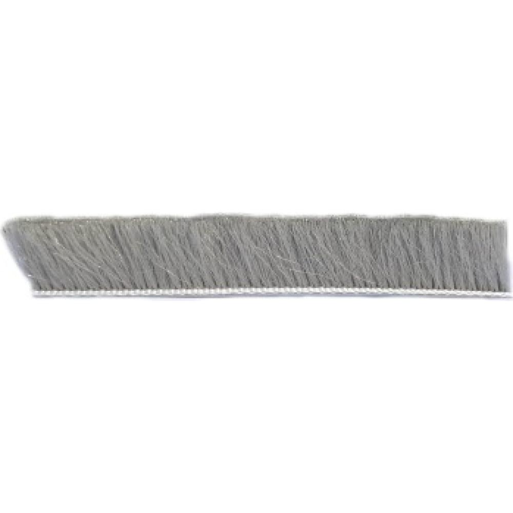 Щеточный уплотнитель mebax 7х12 серый, в пакете, 6м 00-00001436