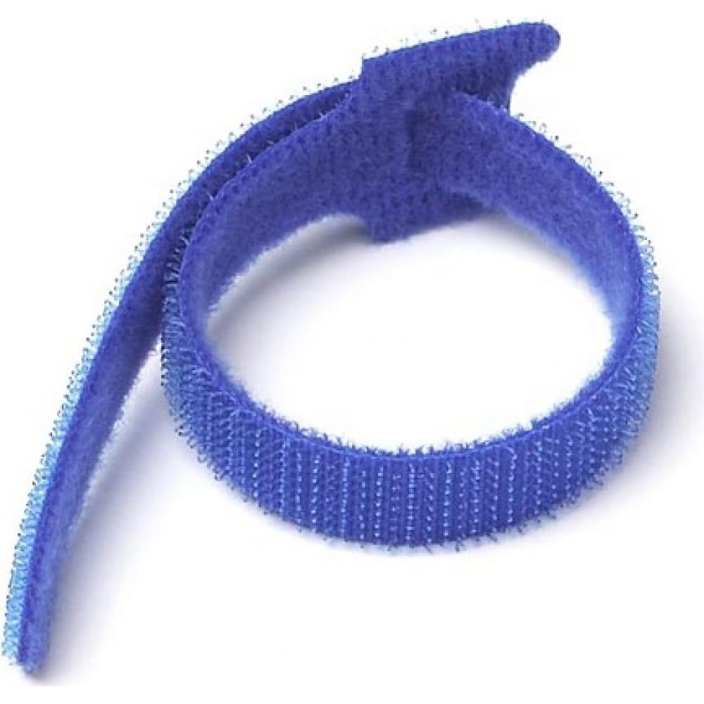 Хомут-липучка lanmaster 135мм, 20 шт., синий lan-vcm135-bl