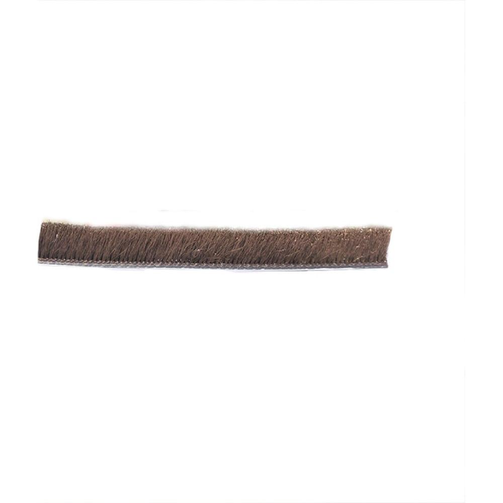 Щеточный уплотнитель mebax 7х6 коричневый, в пакете, 6м 00-00001428