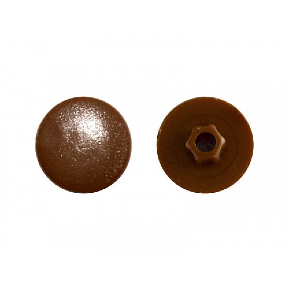 Заглушка под конфирмат креп-комп темно-коричневая 1000шт зпк тем.коричн