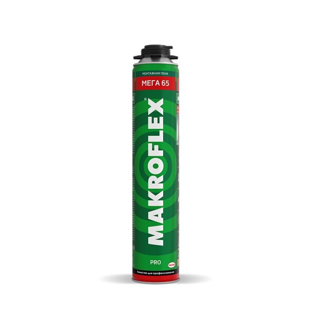 Монтажная пена makroflex мега 65 про, 850мл б0049544