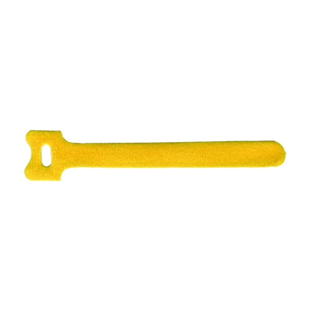 Хомут-липучка lanmaster 135мм, 20 шт., желтый lan-vcm135-yl
