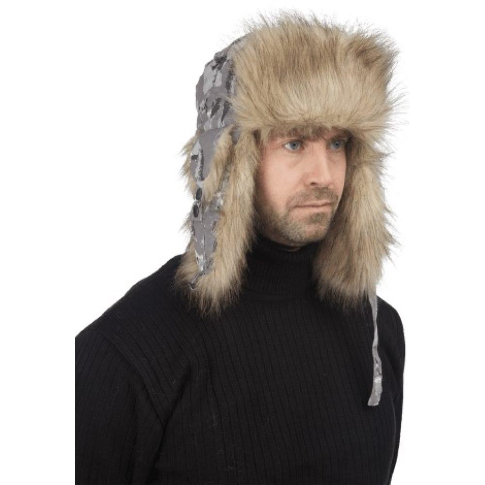 Зимняя шапка sobol, волки серый, шап 560/56