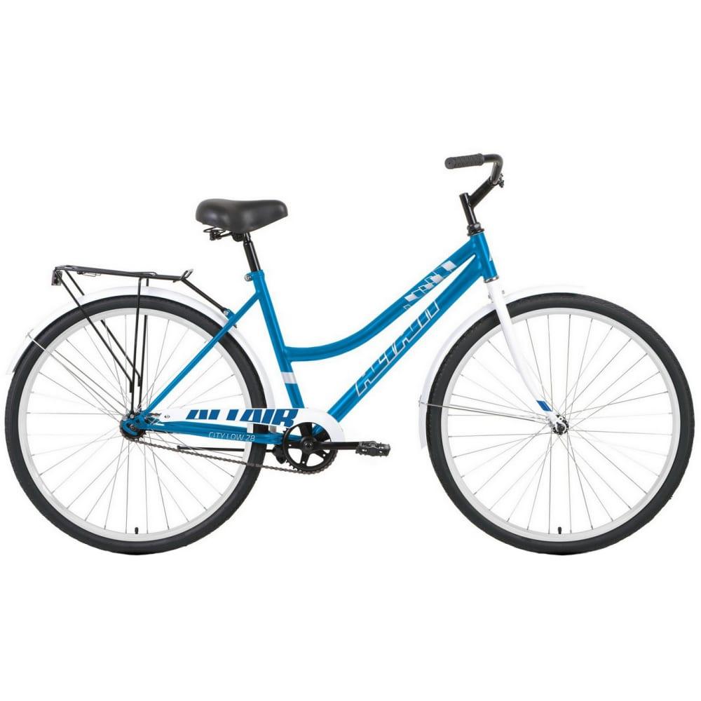 Велосипед altair 28 low голубой/белый rbkt1yn81010
