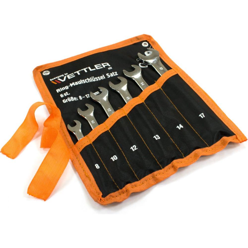 Купить Набор комбинированных ключей vettler 6пр 8-17мм сумка rmss6rt