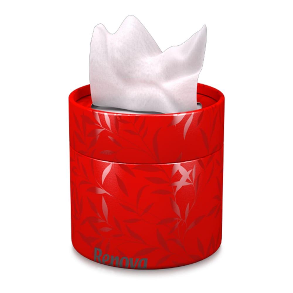 Купить Бумажная салфетка renova tube red с шелком, 3 слоя, 40л. 4680004098003