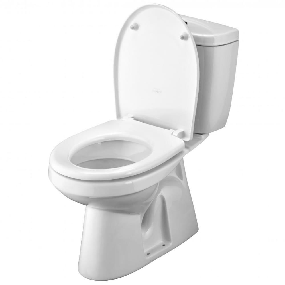 Купить Унитаз-компакт santek анимо выпуск в пол, стандарт: 2-режим, сиденье дюропласт, металлический крепеж 00032784