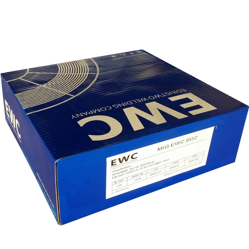 Проволока сварочная омеднённая mig sg2 (1.2 мм; 18 кг) ewc cn0300003