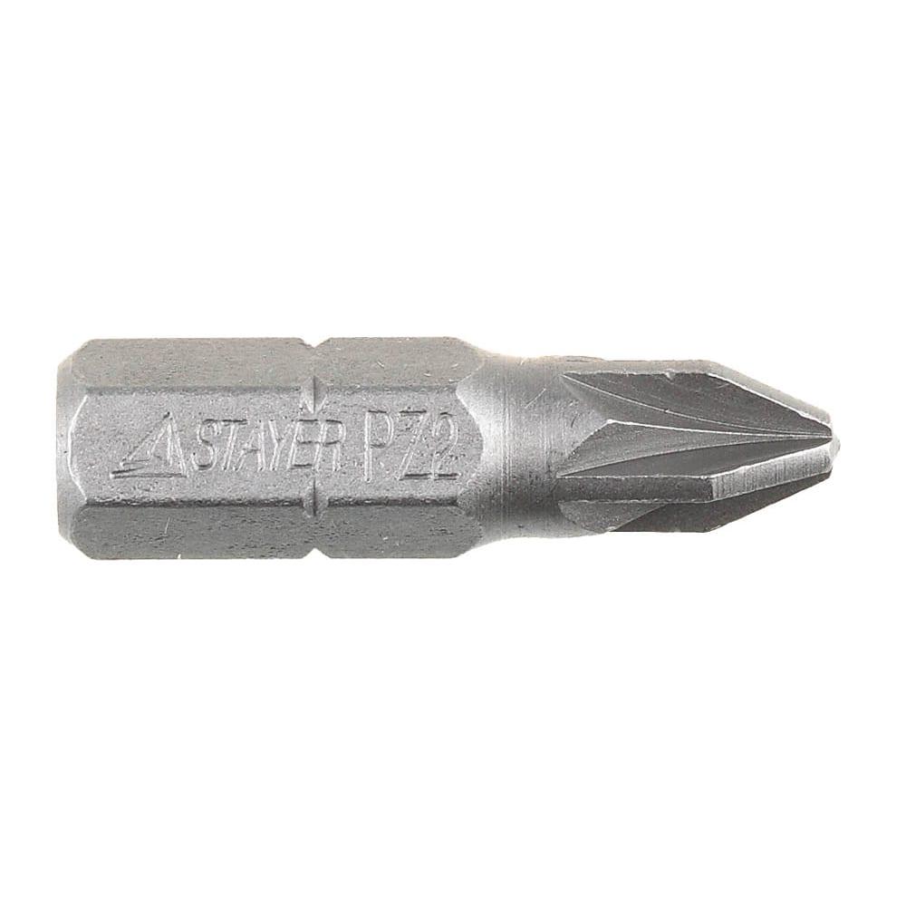 Биты stayer 1000 шт, pz2, 25 мм 26221-2-25-1000