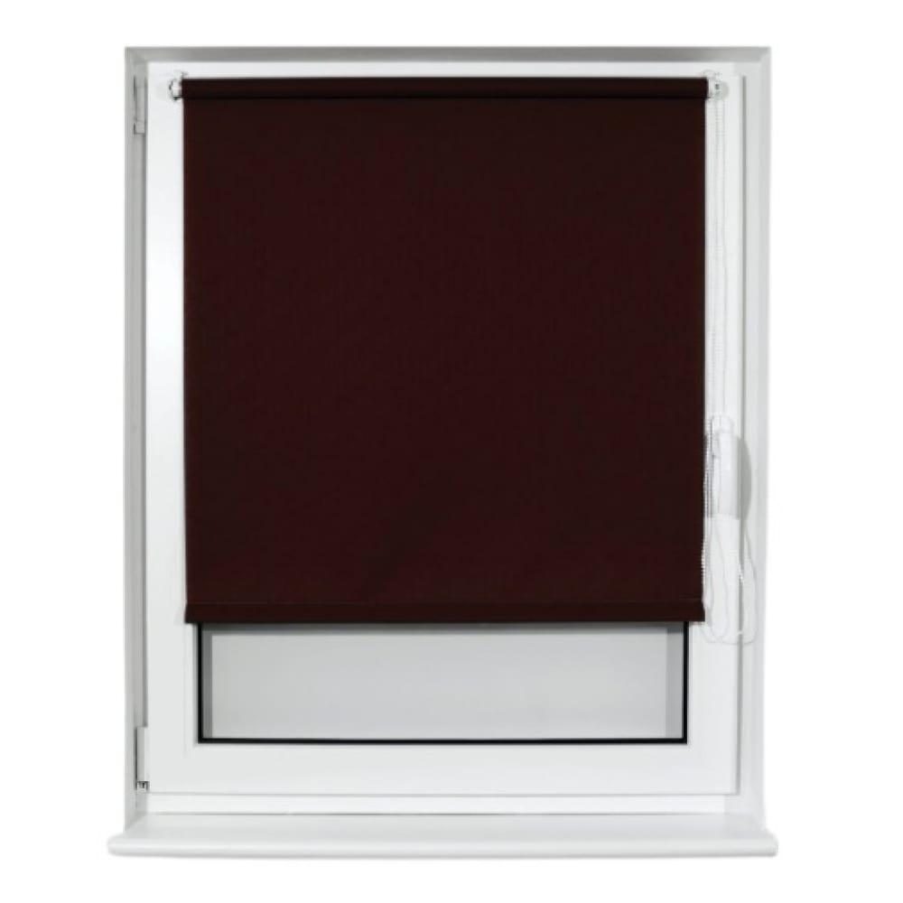 Купить Рулонная штора brabix 60х175 см, текстура-лён, защита 55-85%, 200 г/м2, коричневый s-17 605987