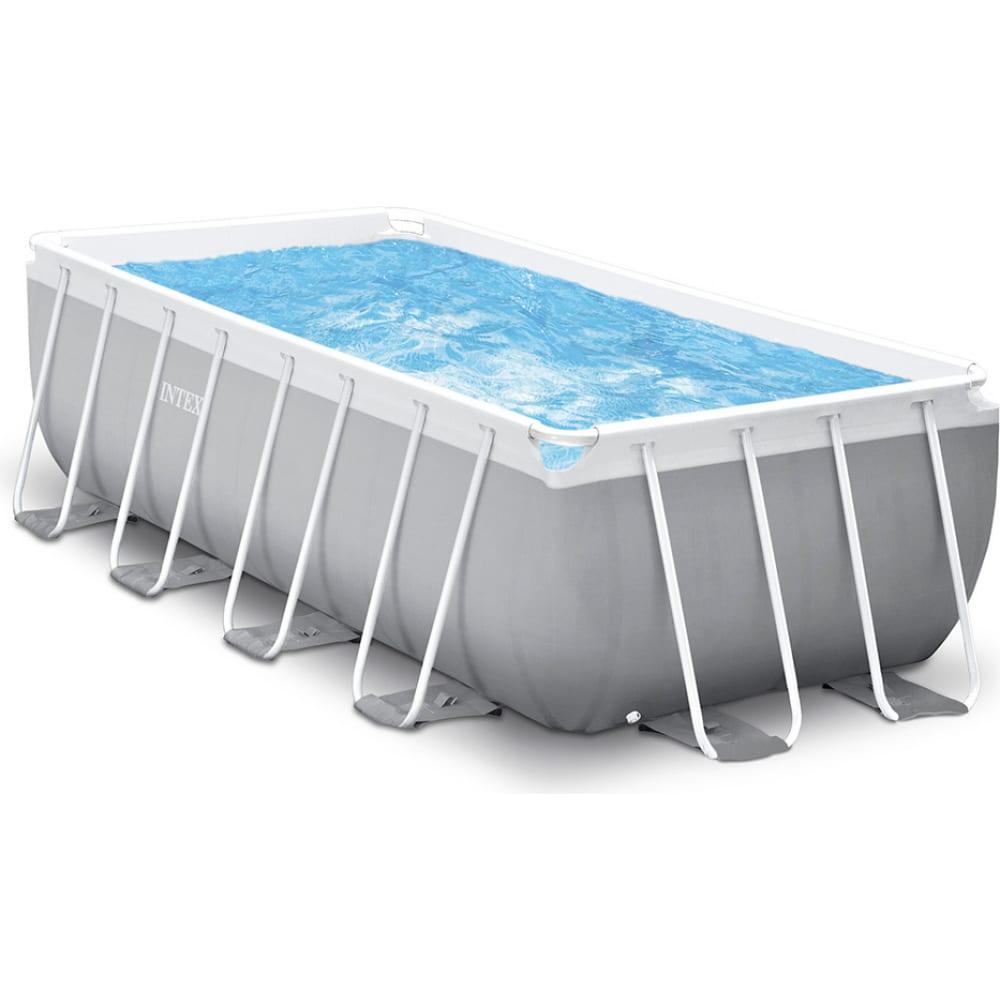 Купить Каркасный бассейн intex prism frame 400х200х122 см, 8418л, фильтр-насос 2006лч, лестница, 26790