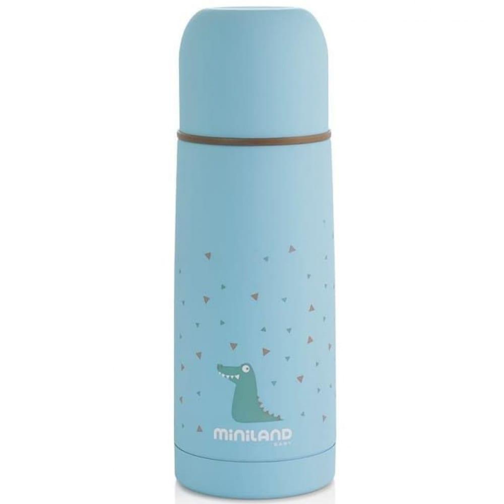 Купить Детский термос для жидкостей miniland silky thermos, 350 мл, голубой 89216