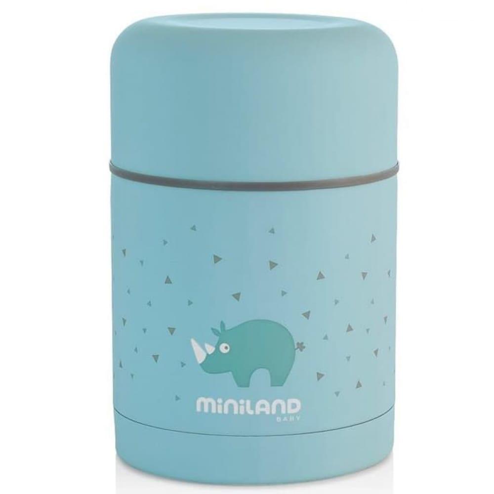 Купить Детский термос для еды miniland silky thermos 600 мл, голубой 89221