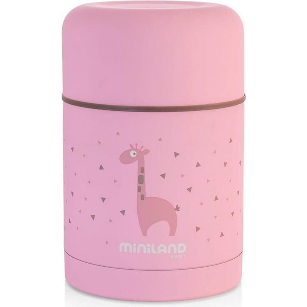 Купить Детский термос для еды miniland silky thermos 600 мл, розовый 89222