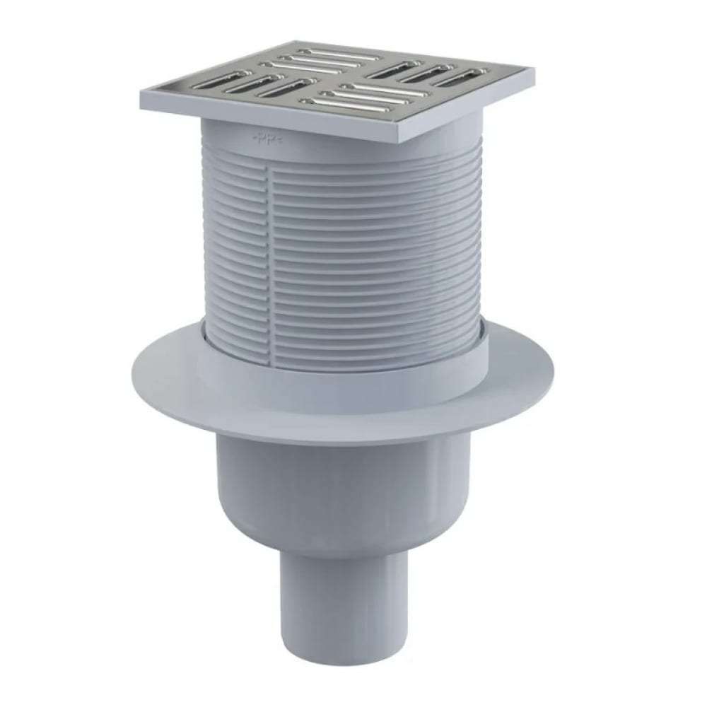Купить Сливной трап alca plast apv2 105х105 50, подводка – прямая, решетка – нержавеющая сталь 00022290