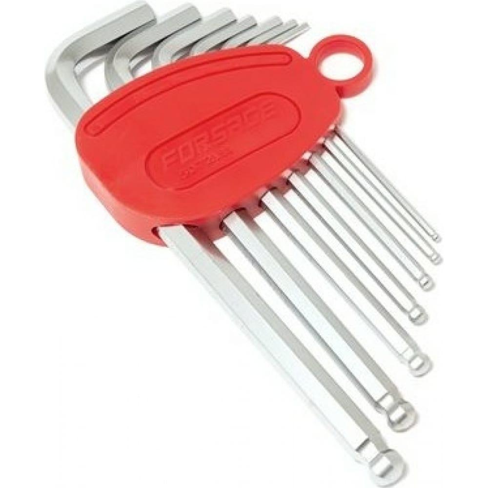 Купить Набор 6-гранных г-образных ключей forsage длинные, с шаром, 7 предметов f-5072lbs