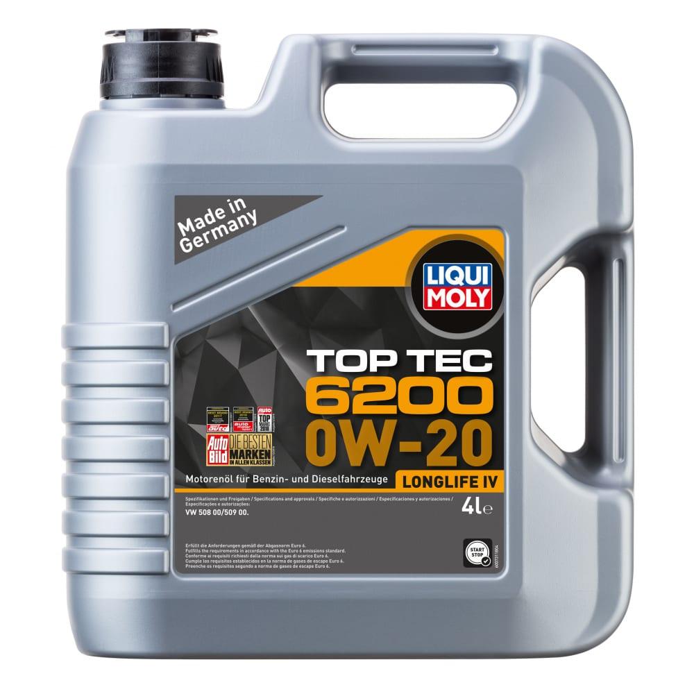 Купить Нс-синтетическое моторное масло liqui moly top tec 6200 0w-20 4л 20788