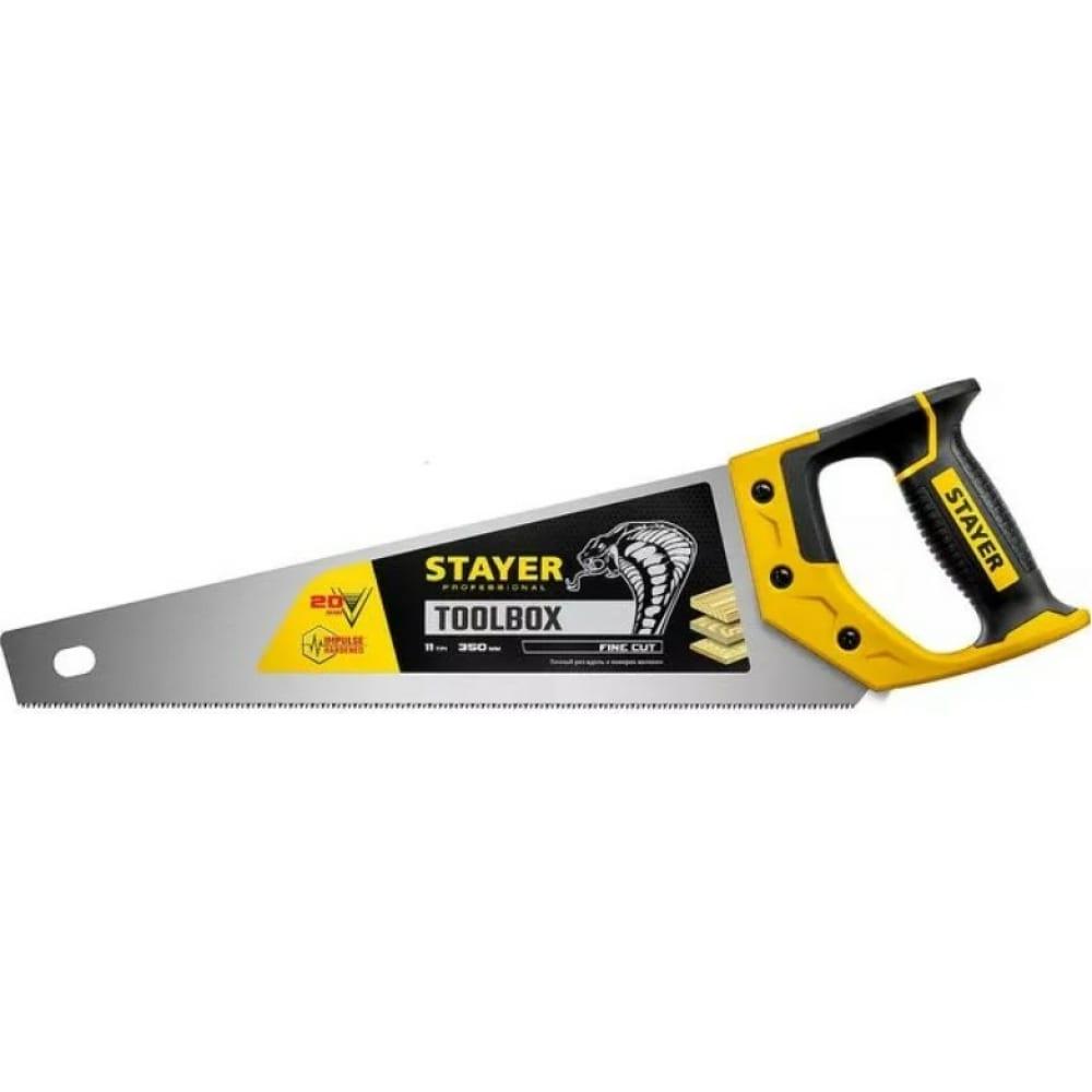 """Ножовка многоцелевая пила stayer """"cobra toolbox"""" 350 мм, 11 tpi, мелкий прямой закаленный зуб, точный рез, 2-15091-45_z01"""