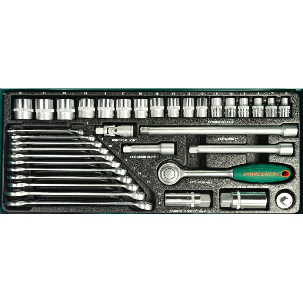 Набор торцевых головок и комбинированных ключей jonnesway s04h3536s