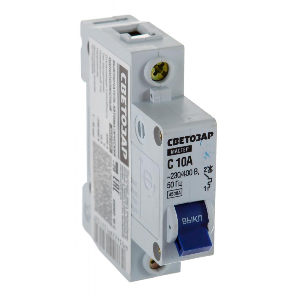 """Автоматический выключатель светозар 1п, 10 a, """"b"""", 6 ка, 230/400 в sv-49051-10-b"""